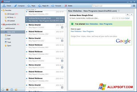 Снимка на екрана FoxMail за Windows XP