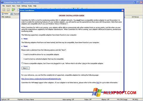 Снимка на екрана CommView for WiFi за Windows XP