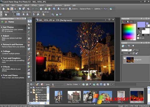 Снимка на екрана PaintShop Pro за Windows XP