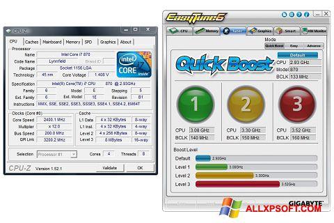 Снимка на екрана EasyTune за Windows XP