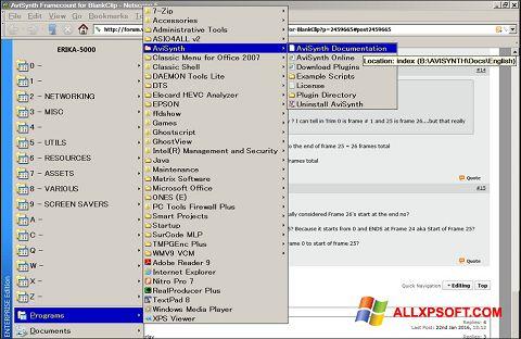 Снимка на екрана AviSynth за Windows XP
