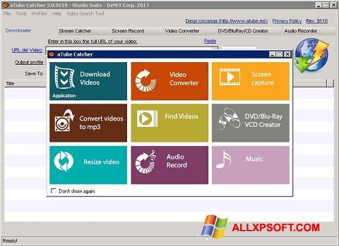 Снимка на екрана aTube Catcher за Windows XP