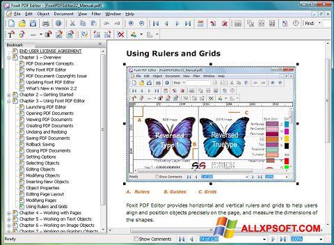Снимка на екрана Foxit PDF Editor за Windows XP