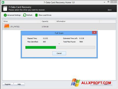 Снимка на екрана CardRecovery за Windows XP
