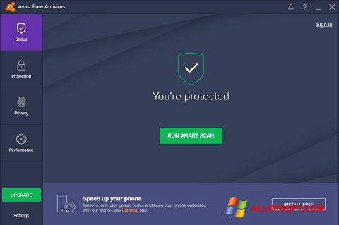 Снимка на екрана Avast Free Antivirus за Windows XP