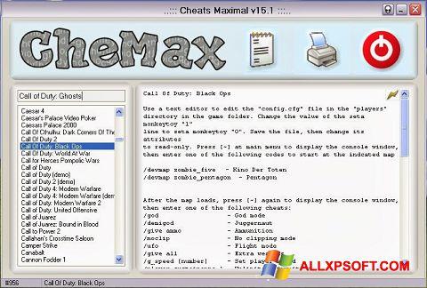 Снимка на екрана CheMax за Windows XP