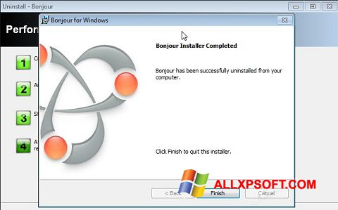 Снимка на екрана Bonjour за Windows XP