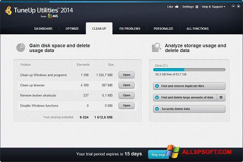 Снимка на екрана TuneUp Utilities за Windows XP