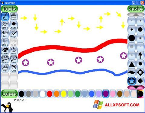 Снимка на екрана Tux Paint за Windows XP