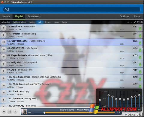 Снимка на екрана VkAudioSaver за Windows XP