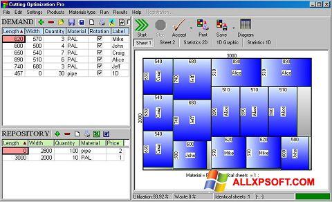 Снимка на екрана Cutting за Windows XP