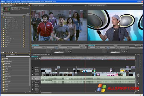 Снимка на екрана Adobe Premiere Pro за Windows XP