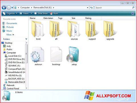 Снимка на екрана Windows 7 USB DVD Download Tool за Windows XP