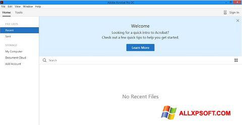 Снимка на екрана Adobe Acrobat Pro DC за Windows XP