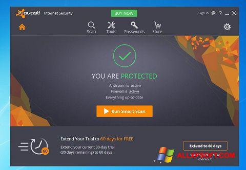 Снимка на екрана Avast Internet Security за Windows XP