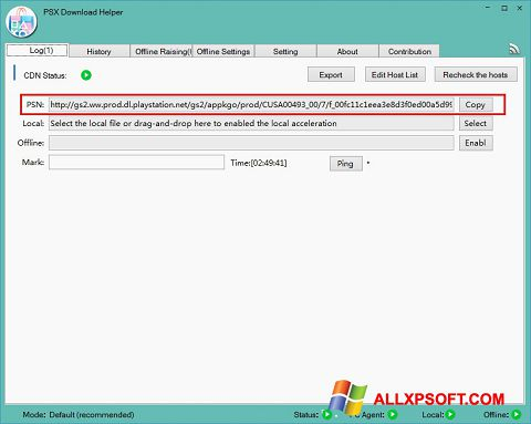 Снимка на екрана DownloadHelper за Windows XP