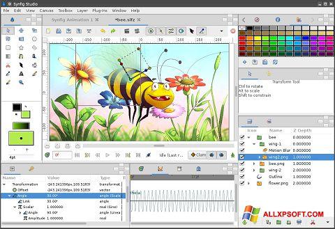 Снимка на екрана Synfig Studio за Windows XP