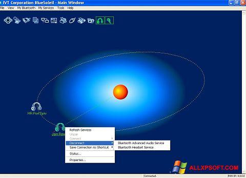 Снимка на екрана BlueSoleil за Windows XP