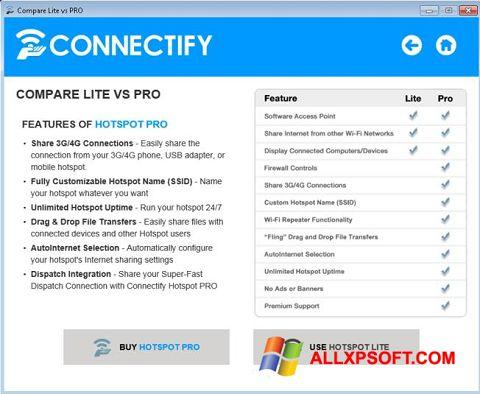 Снимка на екрана Connectify Beta за Windows XP