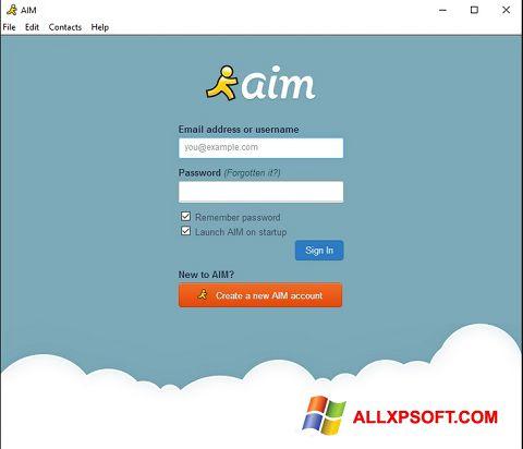 Снимка на екрана AOL Instant Messenger за Windows XP