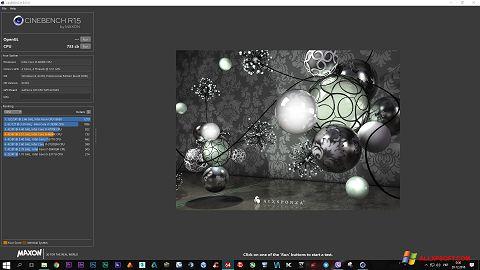 Снимка на екрана CINEBENCH за Windows XP