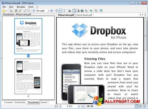 Снимка на екрана STDU Viewer за Windows XP