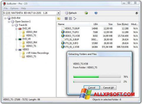Снимка на екрана IsoBuster за Windows XP