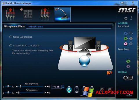 Снимка на екрана Realtek Audio Driver за Windows XP