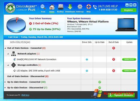 Снимка на екрана DriverAgent за Windows XP
