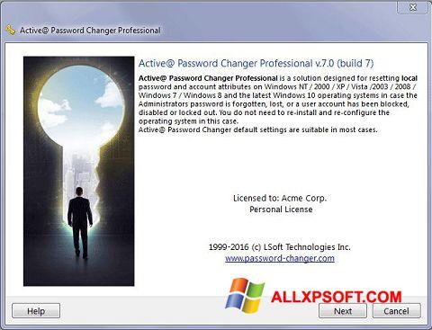 Снимка на екрана Active Password Changer за Windows XP