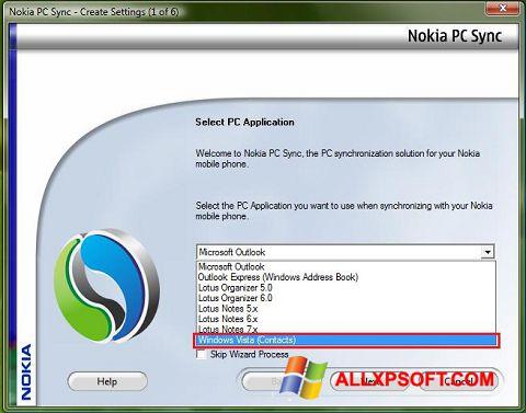 Снимка на екрана Nokia PC Suite за Windows XP