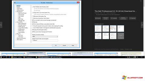 Снимка на екрана The Bat! за Windows XP