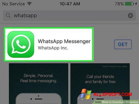 Снимка на екрана WhatsApp за Windows XP