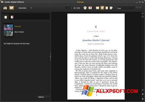 Снимка на екрана Adobe Digital Editions за Windows XP