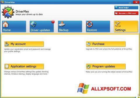 Снимка на екрана DriverMax за Windows XP