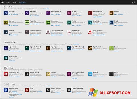 Снимка на екрана Adobe Creative Cloud за Windows XP