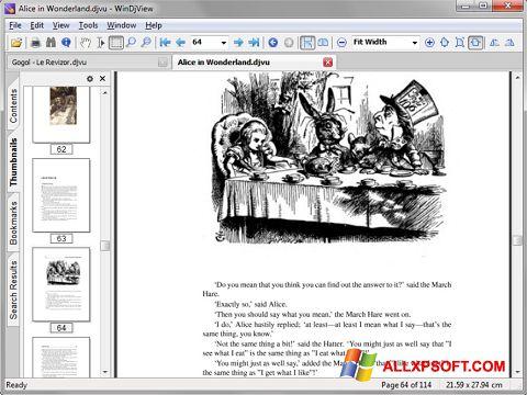 Снимка на екрана DjView за Windows XP