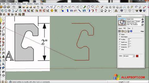 Снимка на екрана SketchUp за Windows XP