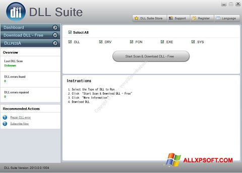 Снимка на екрана DLL Suite за Windows XP