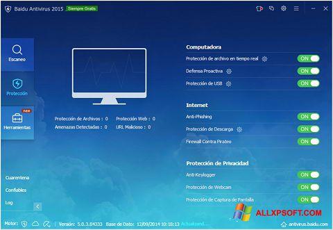 Снимка на екрана Baidu Antivirus за Windows XP