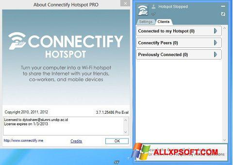 Снимка на екрана Connectify Pro за Windows XP