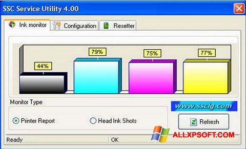 Снимка на екрана SSC Service Utility за Windows XP