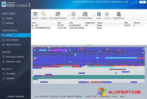 Снимка на екрана Ashampoo HDD Control за Windows XP