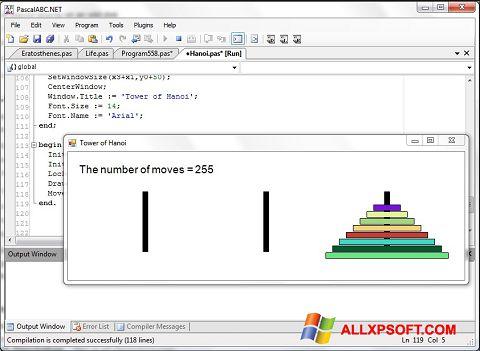 Снимка на екрана Pascal ABC за Windows XP