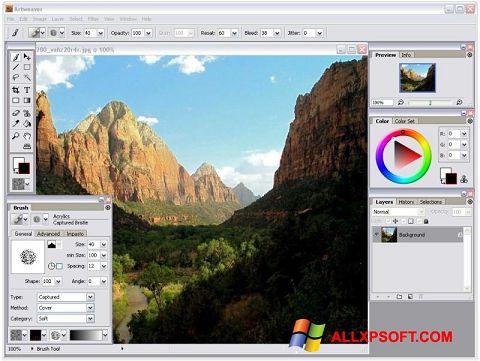 Снимка на екрана Artweaver за Windows XP
