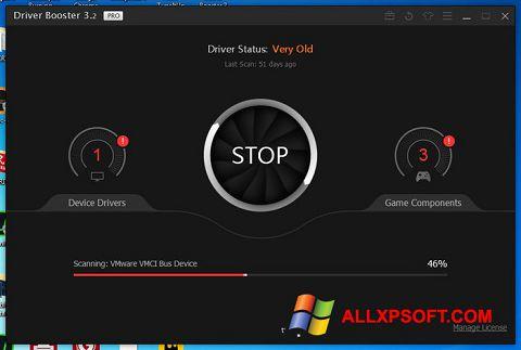 Снимка на екрана Driver Booster за Windows XP