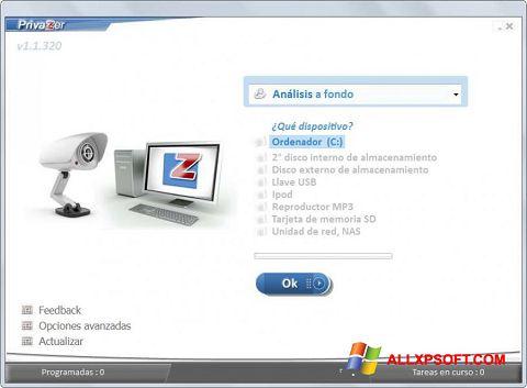 Снимка на екрана PrivaZer за Windows XP