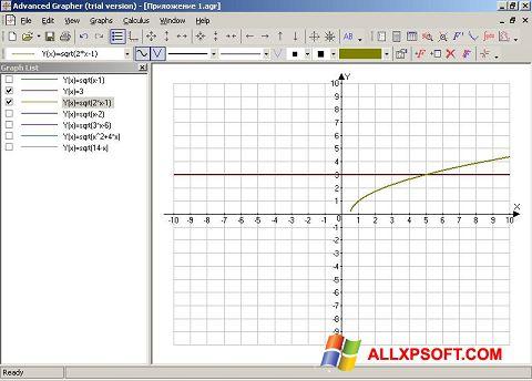 Снимка на екрана Advanced Grapher за Windows XP