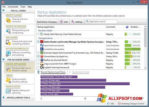 Снимка на екрана Reg Organizer за Windows XP
