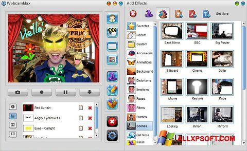 Снимка на екрана WebcamMax за Windows XP